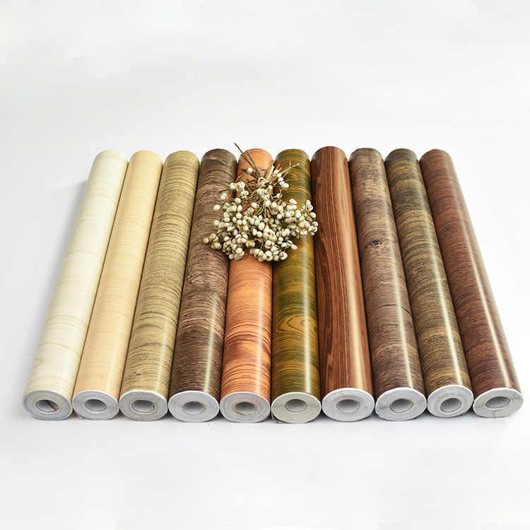 1 M/5 M/10 M impermeable PVC vinilo grano de madera papel pintado autoadhesivo cocina armario piso techo pegatinas de renovación en la pared