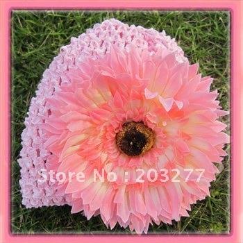 12 шт./партия 7 цветов 6 ''вязанные крючком шапки-бини с ромашки цветы могут смешать заказ