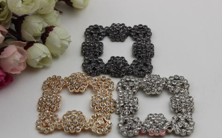Freies verschiffen (2 teilelos) glitzernde 3 farbe diamant schnalle schuhe, schuhe blumen, schmuck DIY mode handtaschen zubehör