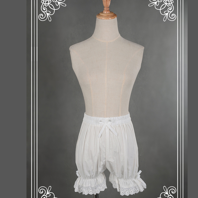 Sweet Cotton Lolita Shorts/Bloomers with Lace Trimming 8
