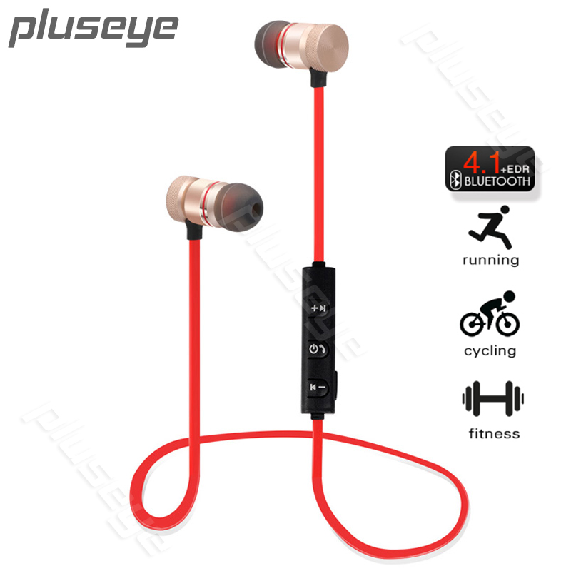 Pluseye Wireless Bluetooth Headset Sport Hand-free  Earphones Earbud Noise Canceling With Mic For Xiaomi iphone  fone de ouvid kz zs5 bluetooth headphone wireless sport noise canceling earphone amplifer with mic heavy bass high quality for boy for samsung