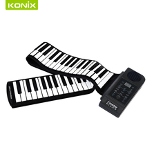 MINI Electronic Piano Keyboard  Soft Roll Up Piano With US EU UK AU Power Plug With Loud Speaker Beginner