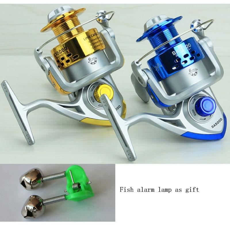 Metal plastic fishing reel 6bb ball bearing saltwater for Sa fishing promo code free shipping