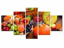 5 Pieces Factory Fruit Poster Series poster Art Print Wall Picture Canvas Painting Framed Home Decor/still life-27
