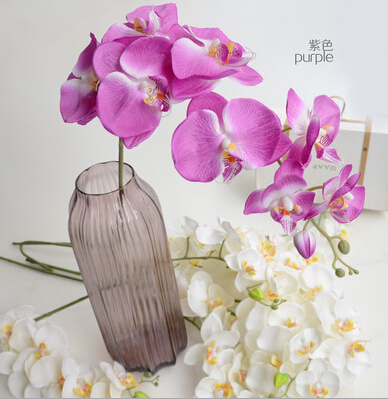 Purple Color Living Room Decorating Artifical Silk Flower