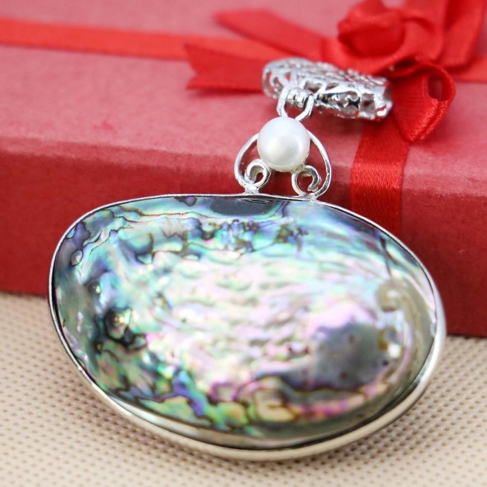 50*35mm Natural Abalone seashells sea shells freshwater pearl beads pendants Ethnic Chic jewelry crafts making women girls diy