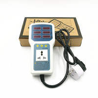 Atx9800 전력계 소켓 테스터 4400 w 20a 전력 에너지 모니터 led 라이트 테스터 소켓 와트 미터 분석기
