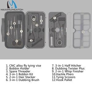 Image 2 - Maximumcatch Fliegen Binden Werkzeuge Set Schraubstock Reisenden Fly Fishing Tackle Kit