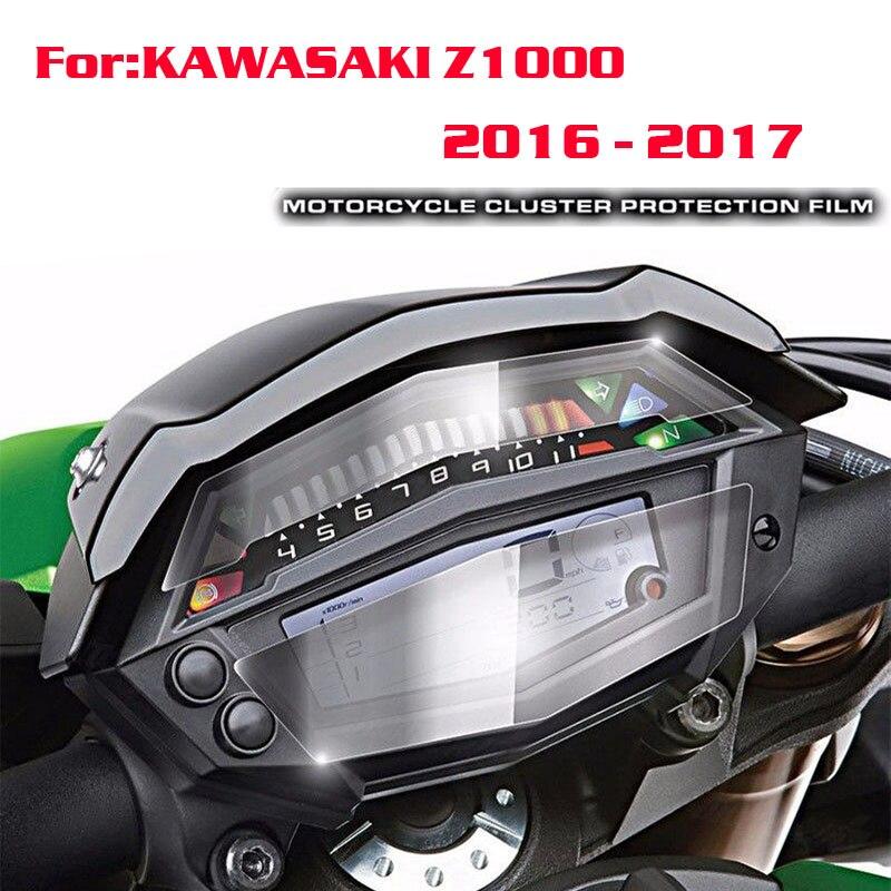 Para kawasaki z1000 2016-2017 nova motocicleta instrumento cluster proteção contra riscos filme protetor de tela