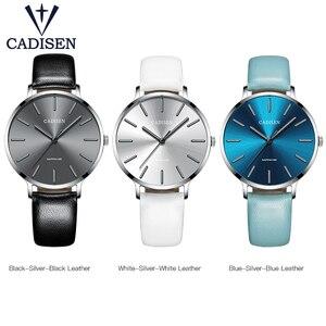 Image 5 - Nuovo 2021 CADISEN Leisure Quartz Thin Women Watch Luxury Brand Dress Ladies orologio in acciaio inossidabile orologi impermeabili ultrasottili