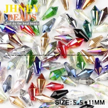 Cone Pendant Waterdrop Austrian crystal beads 5.5*11mm 50pcs High quality Spire glass Loos for jewelry making bracelet DIY