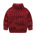 Дети мальчики свитер ребенок сплошной цвет с длинными рукавами вязаный свитер мальчики пуловер топ осенью и зимой