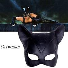 Маска женщины-кошки; аксессуары для косплея; костюм Бэтмена на Хэллоуин для женщин; маска; реквизит