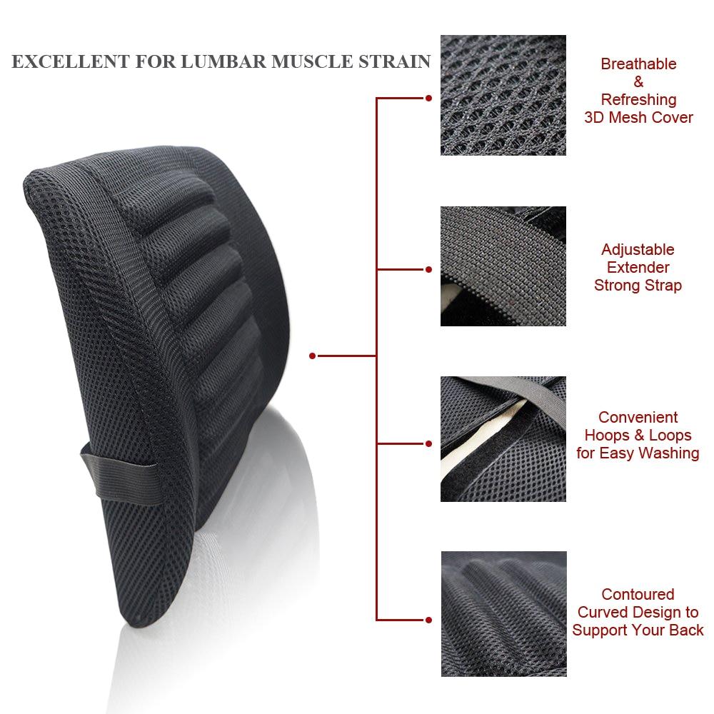 1pcs breathable mesh cloth car seat lumbar cushion pillows soft cotton back support for car seat