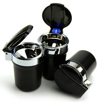 Portable Auto Truck LED Cigarette Smoke Cigar Car Ashtray Cendrier Cenicero Cinzeiro Ceniceros Asbak Ash Cylinder