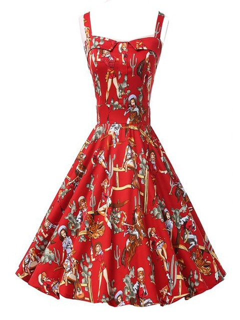 371b97608b Bofeiyang Women's 1950s Vintage Rockabilly Garden Party Swing Harness Dress  Free Shipping V008-in Dresses from Women's Clothing & Accessories on ...