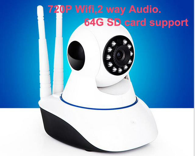 Wireless 720P IP Camera Wifi home security camera HD Cctv Camera P2P camera with 64G TF card Android Baby Monitor