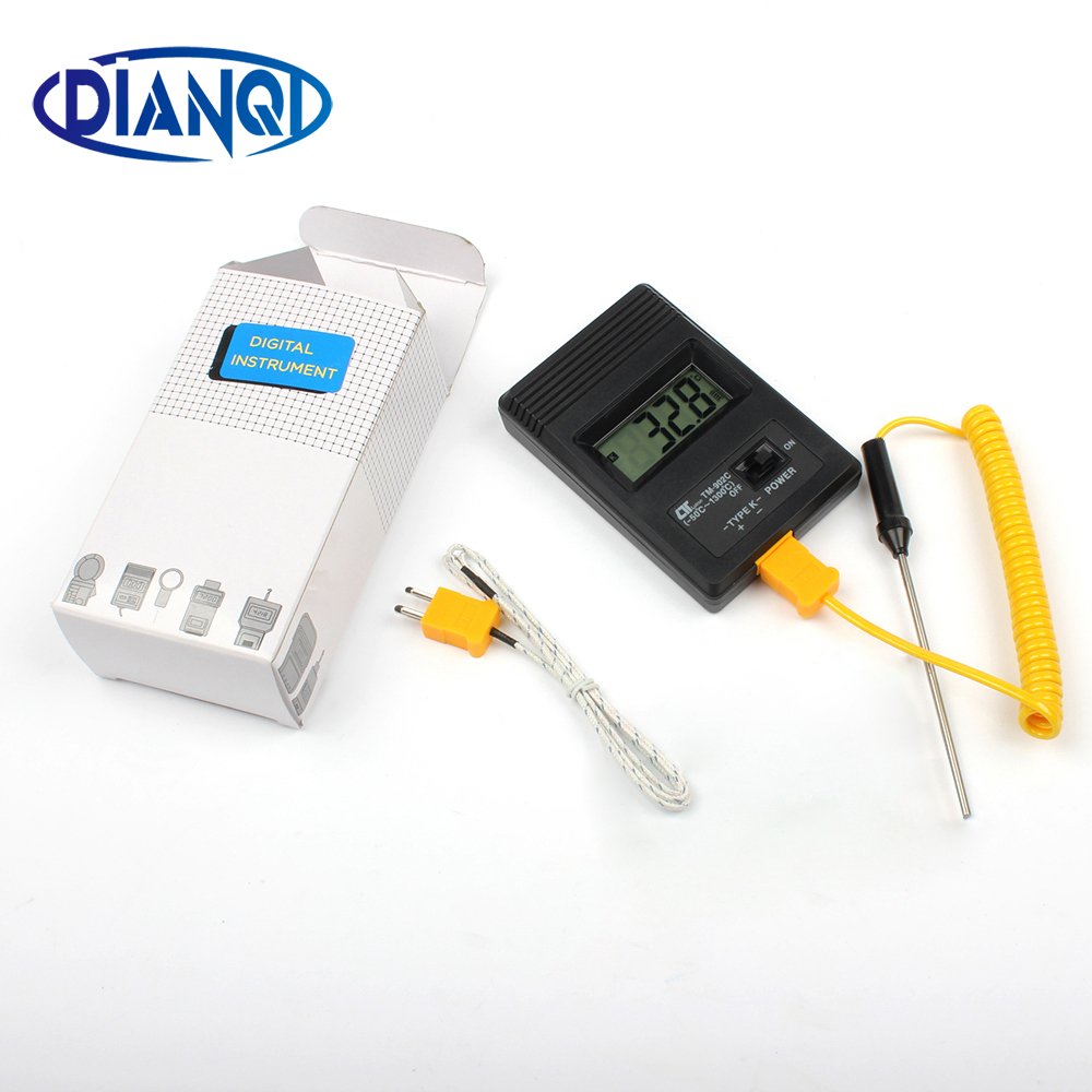 Tm-902c medidor de temperatura tm902c termómetro digital + termopar sonda de aguja termopar 0-1300 grados de