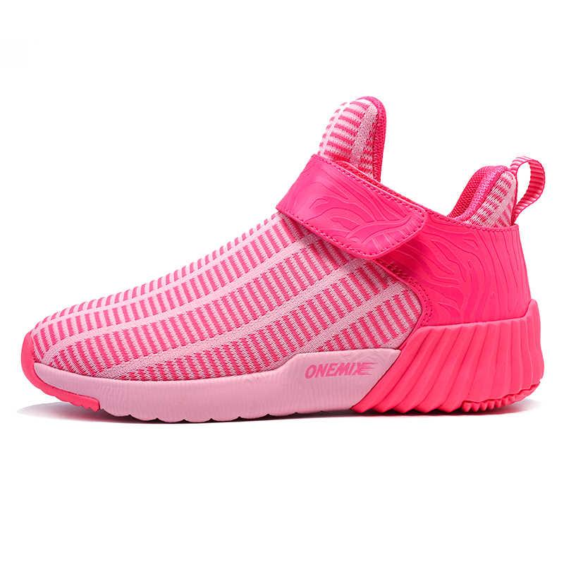 ONEMIX النساء احذية الجري تنفس شبكة أحذية رياضية أحذية دافئة عالية الجودة حذاء رياضة في الهواء الطلق النساء أحذية مشي رياضية حجم 43