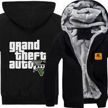 Spiel GTA Cosplay Hoodie Jacke Wintermantel Dünne/Starke art auf lager kostenloser versand