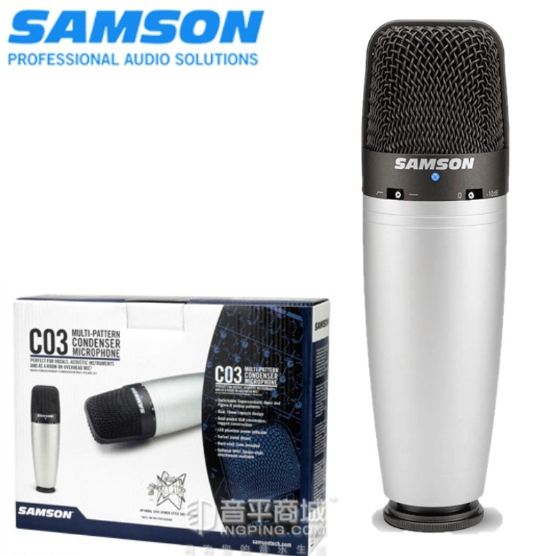 100 Original SAMSON C03 Multi Pattern Condenser Microphone for recording vocals acoustic instruments ect