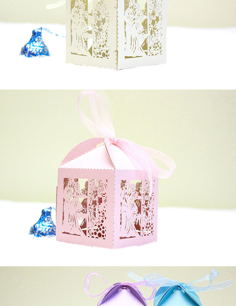 ᗛ100 bride and groom wedding favor box laser cut candy box Sweets ...