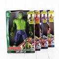 Fullset 4 Estilo 30 cm os Vingadores homem De Ferro Hulk Capitão América Thor PVC Figura Toy