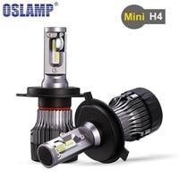 Newest Oslamp Mini H4 Hi Lo Beam Car Led Headlight Bulbs 6500K 5000LM CSP Chips Auto
