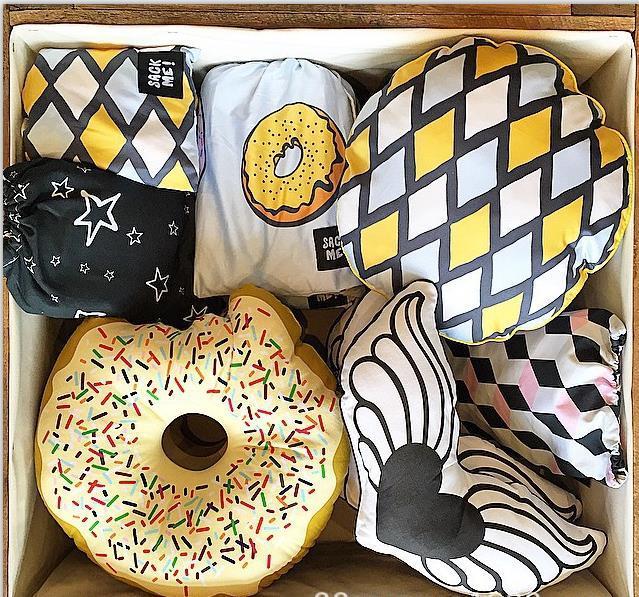 Ins nova Adorável Hold travesseiro pão rosquinha travesseiro padrão Crianças quarto decorações boneca de algodão Puro dom