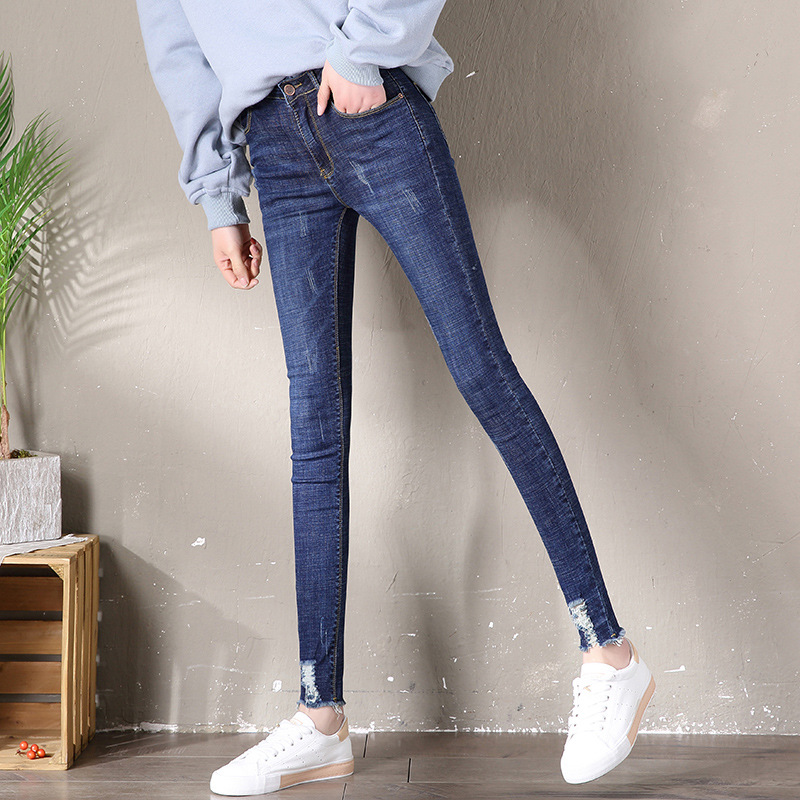 Boyfriend Jeans for Womens Black Slim Fit Ripped Skinny Jeans Destroyed Tight Sexy Women Denim Jeans WJ001 in Jeans from Women 39 s Clothing