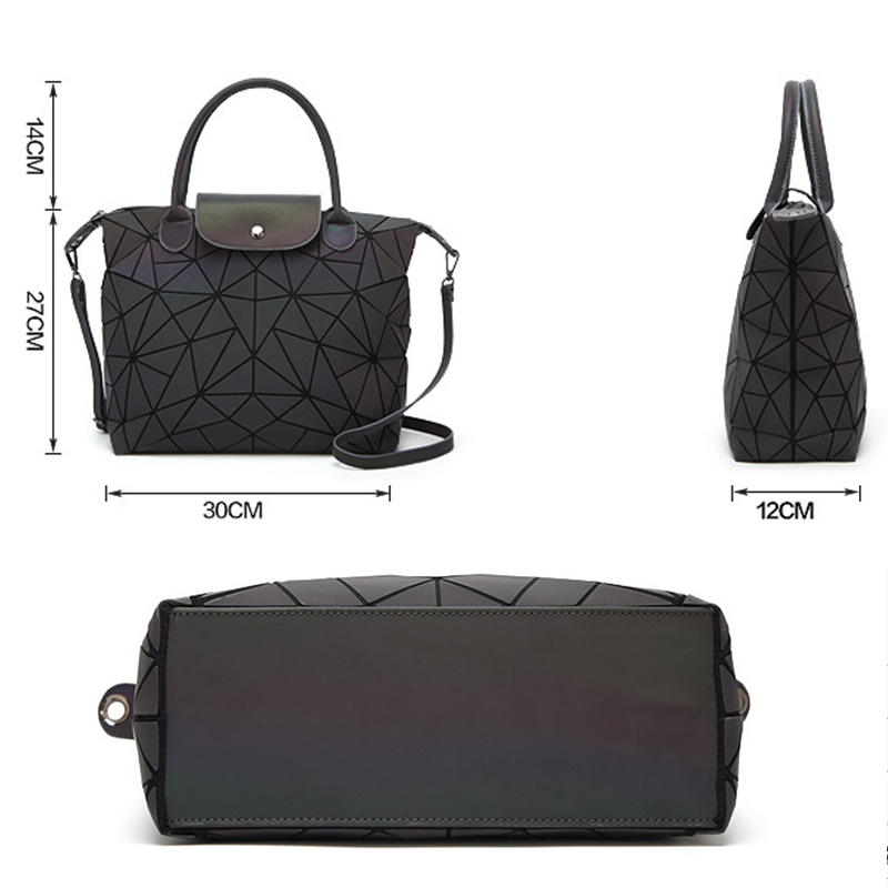 8c825e97cbc2 US $78.86 |PU Casual Tote Bag Famous Brands Women Bag Geometry Sequins  Mirror Laser Plain Folding Bags Luminous Handbags Shoulder Bag-in Shoulder  Bags ...