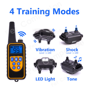 Image 3 - Rechargeable Waterproof Electronic Dog Training Collars Stop Barking LCD Display 800 yard Remote control Shock virbration tone