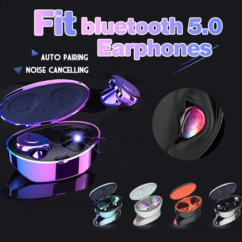Bluetooth 5.0 écouteurs mode couleur sans fil étanche IPX5 casque stéréo dans l'oreille écouteurs compatibles pour IOS pour Android