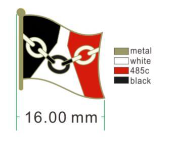 Badge Iml Walking March Flag Metal Badges For Clothes Flag Badges Enamel Lapel Pin Rozet Metal Pin Badges