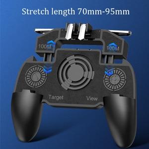 Image 5 - PBUG Mobile L1R1 shooter controller di gioco con dispositivo di raffreddamento del ventilatore pubg joystick per il telefono gioco supporto pubg trigger console oyun konsolu