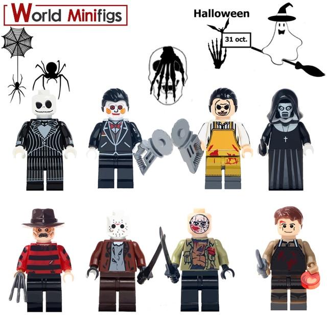 20pcslot the horror legoings theme movie jason toys for children hockey mask guy figure