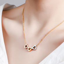 2019 Fashion Tiny Heart Shape Initial Necklace For Women Gold Color Choker Geometric Long Chain Jewelry Gift