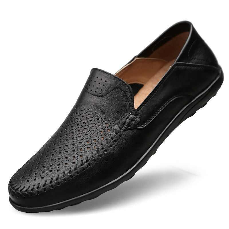 37edaba9 DUDELI verano italiano zapatos de los hombres casuales de la marca de lujo  de transpirables para