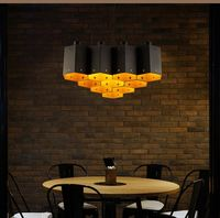 A1 Loft wind Pendant lamp retro Restaurant Bar Cafe creative clothing store special cellular iron Art Pendant Lights GY75