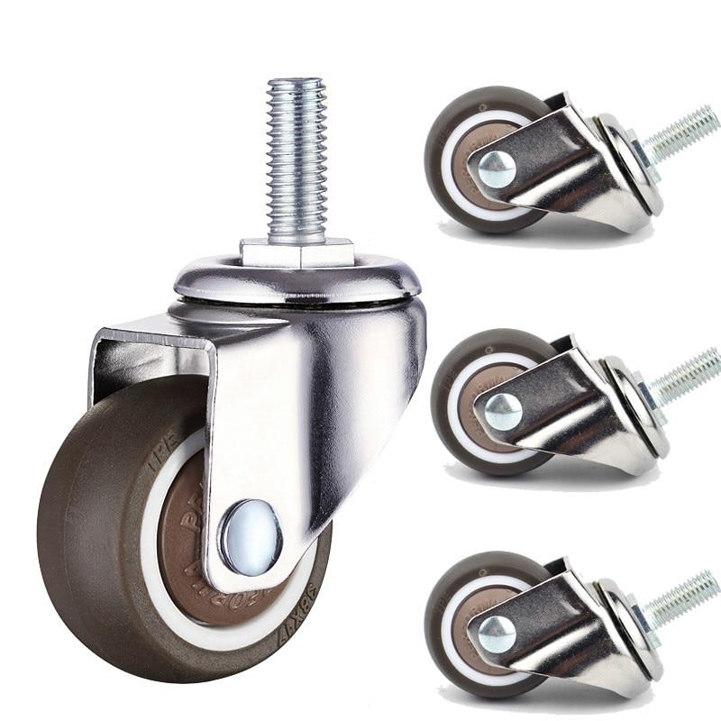 5pcs Super Mute Wheels/casters Wheel Diameter,Anti-wrap Wheel Bear 20/30/40kg For Furniture,sofa,Showcase Home Hardware