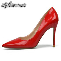 Stylesowner 2018 European Style High Heels Patent Leather Woman Wedding Shoes Fashion Pumps 6cm Heels Sexy Woman Stiletto