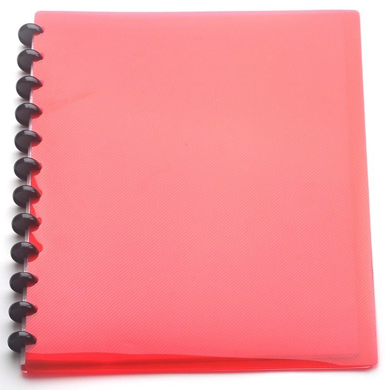 Mushroom Hole Loose-leaf Information Booklet a4 Folder Information Book Pocket Transparent Document Bag Office Stationery