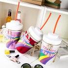 New Round Shape Drink Style Bottle Cup Pocket Zipper Leisure Personality Cola Cup Messenger Bag Women Moschlia Bolsa Handbags