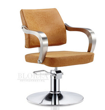 Fashion contracted barbershop hairdressing chair. Beauty-care chair. Hydraulic chair.