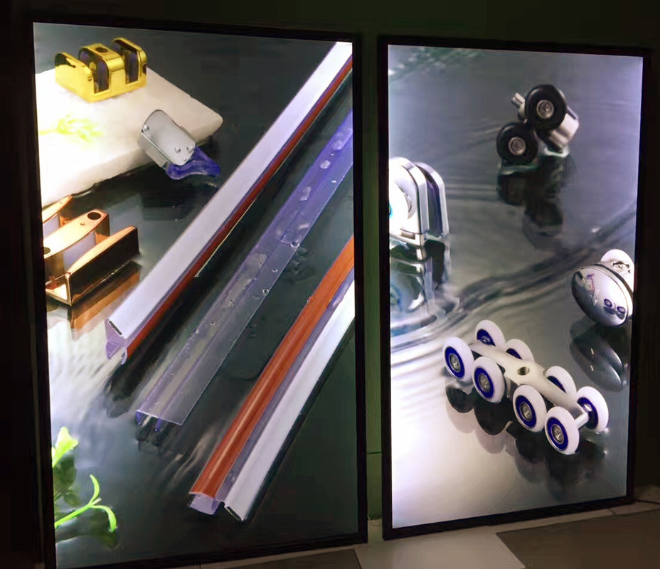3 STÜCKE Magnetic Aluminium LED Leuchtet Film Plakatrahmen Heimkino ...