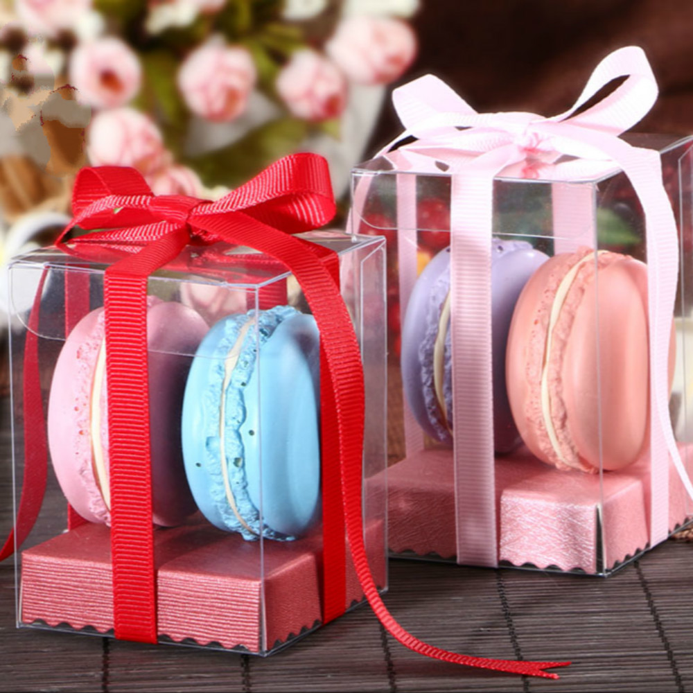 40PCS New 6*6*6cm Candy Box Come With Grosgrain Ribbon Cupcake Boxes ...