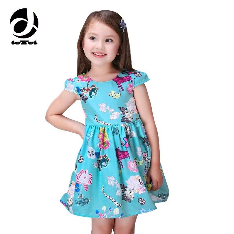 2016 Verano Niñas Vestido Niños Bonitos Vestidos Para Niñas