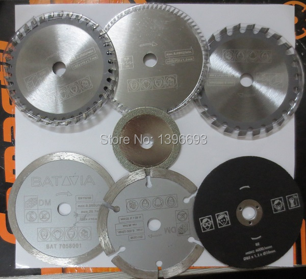 7pcs/set XXL SPEED saw blades cutting blades for mini circular saw, diameter 85mm, multi saw blade,Power tool accessory blades blades cutting machine blade tape double sided adhesive circular knife cutting blade