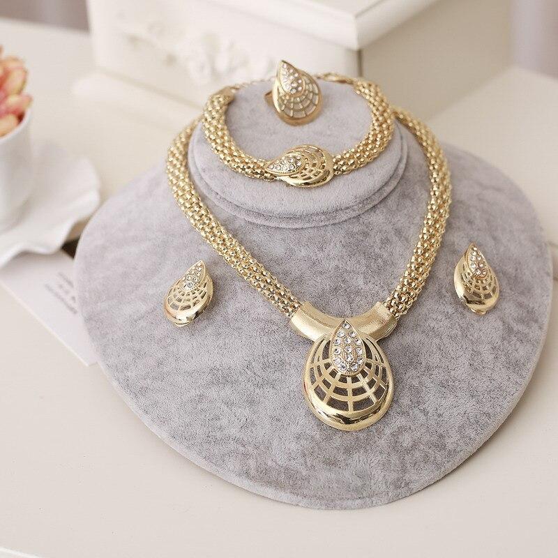 ZOSHI Jewelry-Set Dubai Gold African Beads Nigerian Wedding Bridal 4PCS Women Vintage