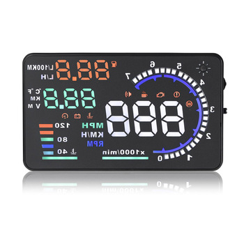 "5.5"" Universal Car HUD Projector Head Up Display OBD II 2 Digital Speed Warning"